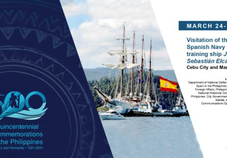 March 24-26, 2021: Visitation of the Spanish Navy training ship Juan Sebastián Elcano (Cebu and Manila)
