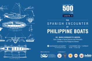 NEW QUINCENTENNIAL LECTURE FEATURES THE ANCIENT PHILIPPINE BOATS