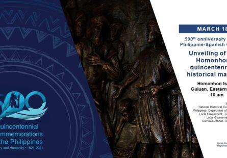 Unveiling of the Homonhon quincentennial historical marker