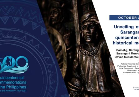 Unveiling of the Sarangani quincentennial historical marker